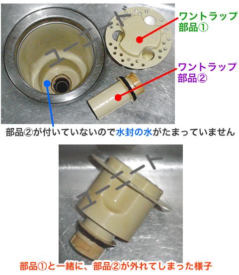 厨房・台所の排水口の部品・仕組み